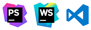 JetBrains PhpStorm, JetBrains WebStorm, Visual Studio Code